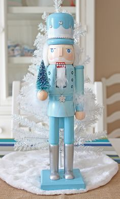 Christmas Makes, Blue Christmas, Christmas Colors, All Things Christmas, Christmas Holidays, Christmas Crafts, Christmas Ornaments, Nutcracker Christmas Decorations, Xmas Decorations