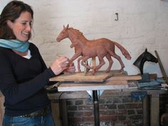 #Bronze Horse Sculpture / Equines Race Horses Pack HorseCart Horses Plough Horsess #sculpture by #artist Camilla Le May titled: 'Thoroughbred Mare and Foal (bronze sculptures Horse sculptures/statue)'. #art #sculptor #artwork #CamillaLeMay
