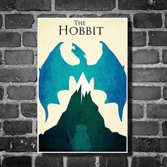 Lord of the Rings movie poster minimalist poster geekery art hobbit print the hobbit blue