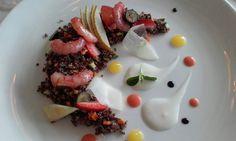 Insalata di quinoa con gamberi crudi e frutta fresca by Chef Riccardo Cappelli @ Dama Dama Restaurant
