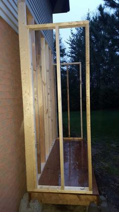 Lean To Shed (3x8') - Imgur Lean To Shed Plans, Wood Shed Plans, Diy Shed Plans, Garbage Shed, Diy Storage Shed, Pvc Trim, Floor Framing, Backyard Sheds, Gardens