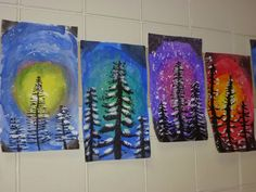 Mrs. Werner's Art Room: 4th grade Winter Paintings