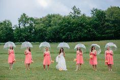 Rain On Your Wedding Day - Umbrella Pictures - Umbrella Wedding - Rustic Wedding - Rain Pictures
