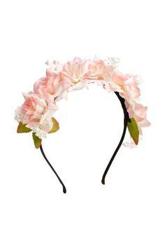 Opaska do włosów z kwiatami