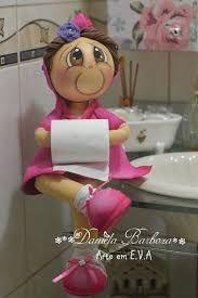 Resultado de imagem para boneca porta papel higienico eva