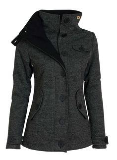Bunda dámská Woox Woolshell Ladies' Jacket – Dark - BezvaSport