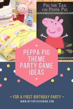 Check out 7 fun party games and activities for a Peppa Pig theme first birthday .- Check out 7 fun party games and activities for a Peppa Pig theme first birthday … Check out 7 fun party games and activities for a Peppa… - First Birthday Party Themes, Birthday Activities, Pig Birthday, Kids Party Themes, Birthday Ideas, Fourth Birthday, Party Ideas, Peppa Pig Party Games, Toddler Party Games