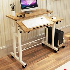 Laptop Desks Painstaking Desktop Foldable Computer Table Adjustable Portable Laptop Desk Rotate Laptop Bed Table Can Be Lifted Standing Desk 1pc Office Furniture