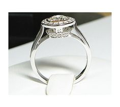Designer Inspired Round Brilliant with Bead and Channnel Ring Replica-1926