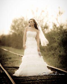 Railroad Tracks | Bridal Session |  Beautiful Wedding Dress | Fair Bluff NC