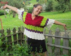 Chevron Sweater I Nicki's Kreativseite Nach einer Anleitung von Erika Knight Chevron, Tie Dye, Knitting, Tops, Women, Fashion, Tutorials, Creative, Breien