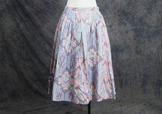 vintage 50s Skirt  Pastel Southwestern Navajo Print by jessamity, $33.00