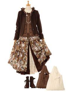 Mori Girl Fashion, Lolita Fashion, Girl Inspiration, Autumn Inspiration, Mori Style, Art Clothing, Pink Houses, Bjd, Beautiful Outfits