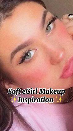 Natural Everyday Makeup, Natural Makeup, Blush Makeup, Eye Makeup, Model Makeup Tutorial, Makeup Inspiration, Makeup Inspo, Basic Makeup, Fairy Makeup