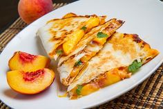 BBQ Chicken and Peach Quesadillas.