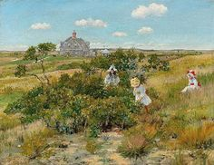 William Merritt Chase (1849 - 1916) The Big Bayberry Bush 1895