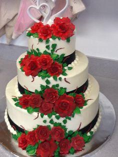 A wedding cake we did last week.