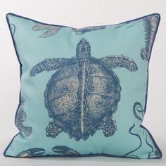 Malibu Sea Life Outdoor Pillow Series | Coastal Home Pillows