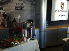 a snack before the Porsche Club of Spokane hits the road.