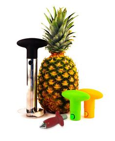 PineApple slicer peels cores slices an entire pineapple in seconds makes perfectly-shaped rings