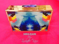 Printed Metallic Clutch By Miss Kaur #HouseOfKaur