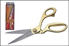 F649D - Heavy Premium Dressmaker Shears 9.5'' ,100532-gd, 801608105322, Very nice and smooth! Suited for all kinds of fabrics, cloths, ultra-sharp blades. Gold handles.  • Length: 9.5'' • Gold Plated Handles • Choice Stainless • Packing: Boxed