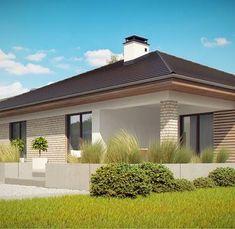Z301 to wyjątkowy dom z kategorii projekty domów z większą liczbą pokoi Backyard Patio Designs, Pergola Patio, House Plans South Africa, 1st Apartment, Exterior House Colors, Small House Design, New House Plans, Home Design Plans, Home Fashion