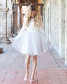 Lace, tulle and Louboutins.. tulle skirt by Bliss Tulle