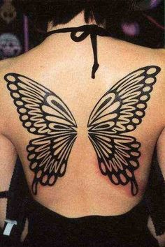 Wings Tattoo # 62 - Nice tribal wings on full back. How many of you find it sexy?