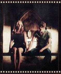 Paul Wesley and Candice Accola Stefan Salvatore and Caroline Forbes