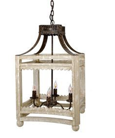 Its square frame with iron accents and a distressed painted finish the Farmhouse Lantern is our most popular light fixture. From rustic to contemporary, this st $568