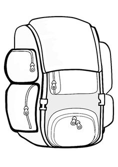 Malvorlage  Rucksack