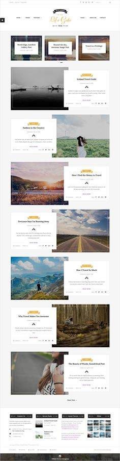 Lifegate is a modern looking and elegant #WordPress #Blogs #Theme with plenty of straightforward and complete functionalities to build up a creative blog with 18 homepage layouts download now➩ https://themeforest.net/item/life-gate-vintage-personal-blog-wordpress-theme/16859395?ref=Datasata