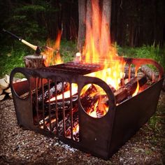 Jeep grille fire pit