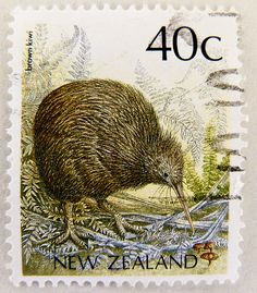 stamp timbre Nouvelle-Zélande Kiwi bird stamp New Zealand 40c postage 40c Commonwealth Briefmarke Neuseeland 40c bollo francobollo Nueva Zelanda selo by stampolina, via Flickr