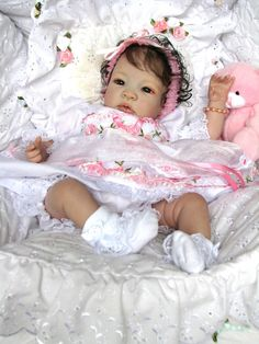Little Petals Nursery Reborn Baby Doll Shyann by Aleina Peterson Clarissa - Dolls - lolsurprise Bb Reborn, Silicone Reborn Babies, Silicone Baby Dolls, Reborn Toddler, Toddler Dolls, Reborn Dolls, Blythe Dolls, Life Like Baby Dolls, Life Like Babies