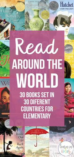 Books can transport us anywhere! Read around the world with these 30 books for elementary books set in Chile, France, Japan, China, and more! Which adventure will you start with today? World History Book, World History Lessons, Teaching History, History Books, Teaching Geography, History Education, Kids Chapter Books, American History Lessons, Read Aloud Books