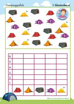 bunch of worksheetrs Camping Bingo, Camping Games, Camping Theme, Camping Activities, Motor Activities, Summer Preschool Activities, Preschool Math, Kindergarten Units, Beach Camping Tips