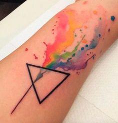 Tatuajes acuarela para mujer