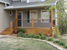 Outdoor Living Space Construction Services in Wichita, KS Front Porch Deck, Front Porch Remodel, Front Porch Addition, Front Porch Railings, Front Porch Makeover, Porch Wood, Concrete Porch, Small Front Porches, Front Porch Design
