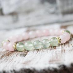 Hey, I found this really awesome Etsy listing at https://www.etsy.com/uk/listing/229576360/rose-quartz-prehnite-healing-bracelet