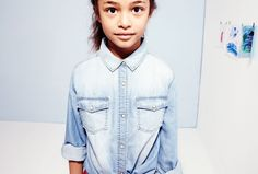 Art S T U D I O | #Zara #Denim #Sunbleached Shirt