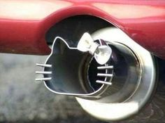 hello kitty tail pipe, how cute would this be on my little orange car