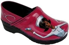For Bethany:  Retro Hand Painted Nurse Clogs.