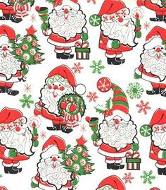 Santa Wrapping Paper from the 1970's