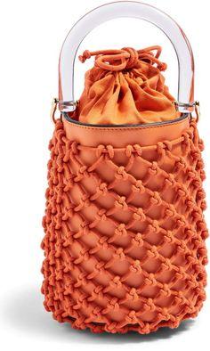 See the Topshop String Bucket Bag in Orange. Topshop Bags, Fashion Handbags, Fashion Bags, Kpop Fashion, Fashion Outfits, Belt Purse, Net Bag, String Bag, Bags