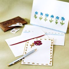 Embroidered Stationary