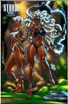 Sexy Black Art, Black Love Art, Black Girl Art, Black Cartoon Characters, Cartoon Art, Comic Books Art, Comic Art, Black Comics, Black Art Pictures
