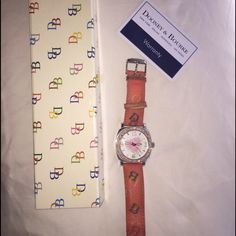 Dooney & Bourke multicolor Watch Leather straps stainless steel and water resistant (100ft) missing 2 stones and minor wear marks but not visual because it's on back of straps. Needs battery. I can replace for extra cost. Dooney & Bourke Accessories Watches