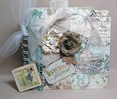 Mini Album by Shannon Connors using the Nature Garden Collection by Jodie Lee for Prima Marketing.